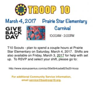 T10 Give Back Day - Prairie Star Elementary School Carnival - Service Project @ Prairie Star Elementary School | Leawood | Kansas | United States